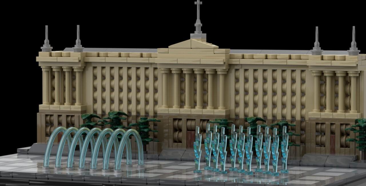 Соборная площадь, Николаев, LEGO-модель, Ермолаев